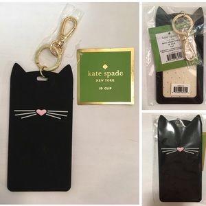 🆕KATE SPADE ♠️-CAT ID CLIP / LUGGAGE TAG KEYCHAIN